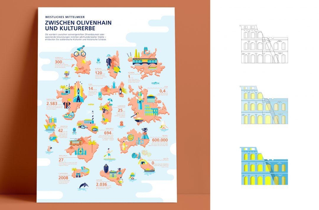 Destinationsplakate | freies Projekt