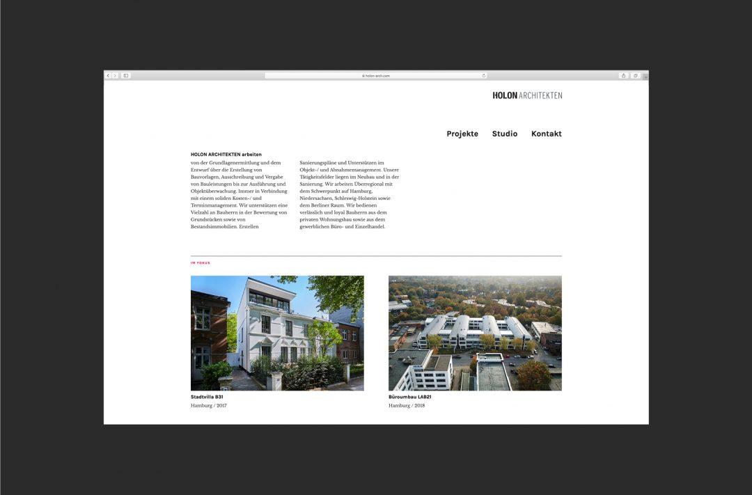 Holon Architekten | Website