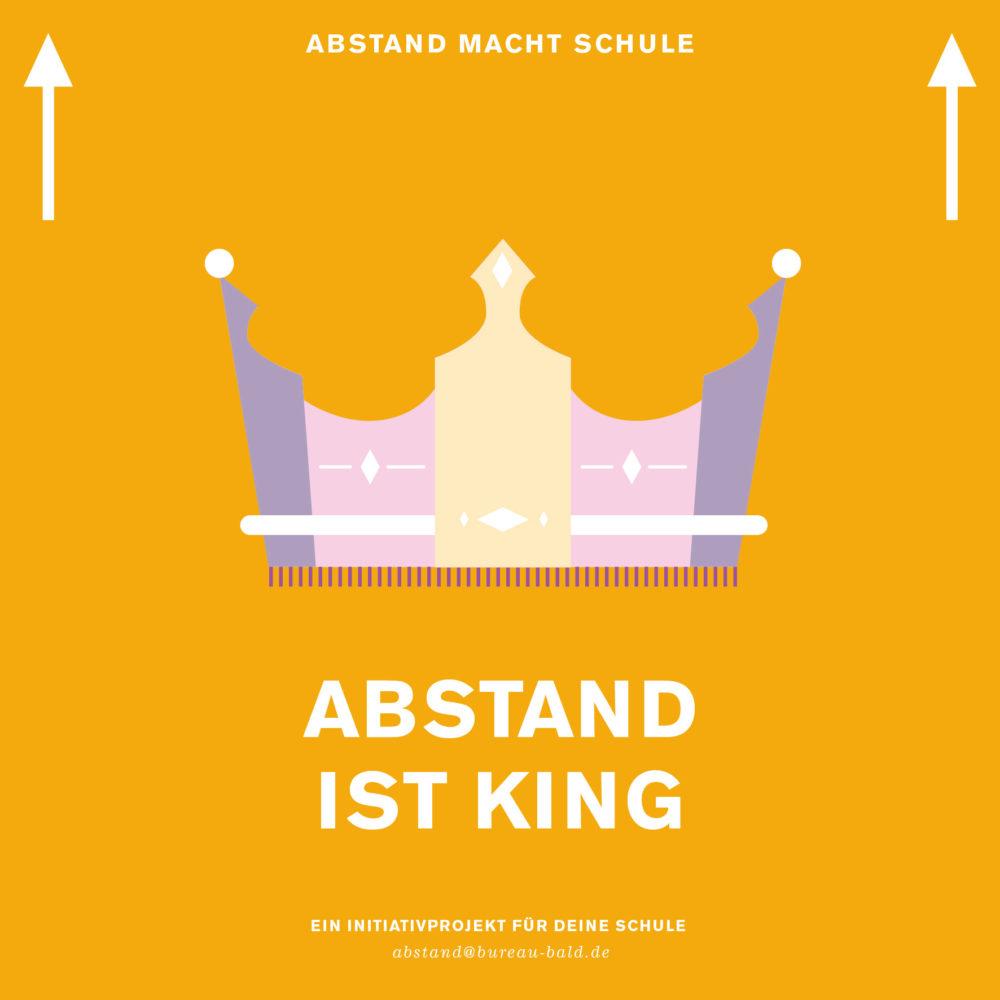 """Schul Abstandsaufkleber """"Abstand ist King"""""""